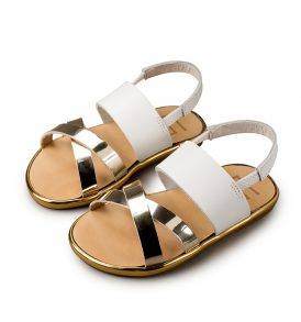 0033 WHITE GOLD BABYWALKER SHOES