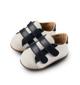 2064 WHITE BLUE BABYWALKER SHOES