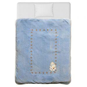 Κουβέρτα βελουτέ κούνιας Stripes Bear 3045 Bebe Stars