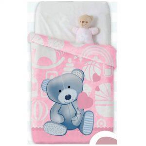 Κουβέρτα παιδική ισπανική κούνιας 110X140 Manterol Vip 510 C04