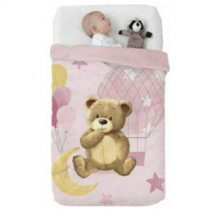 Κουβέρτα παιδική ισπανική κούνιας 110×140 & 75×100 Manterol Vip 528 C04