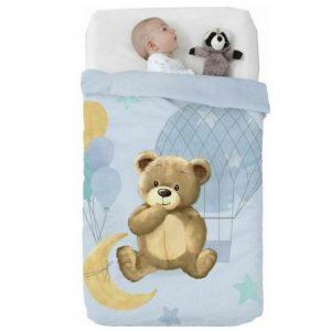Κουβέρτα παιδική ισπανική κούνιας 110×140 & 75×100 Manterol Vip 528 C08